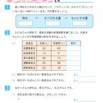 【すきるまドリル】 小学5年生 算数 「割合と百分率」 無料学習プリント