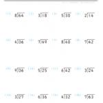 【すきるまドリル】 算数ドリル わり算の筆算1