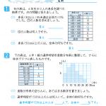 【すきるまドリル】 小学6年生 算数 「資料の調べ方」 無料学習プリント